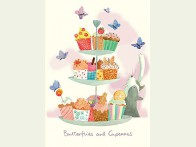 Two Bad Mice Butterflies and Cupcakes kaart